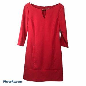 Eliza J Pink Sheath Dress with pockets size 6